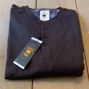 Copper & Oak Men's Shirt Long Sleeve Large Gray